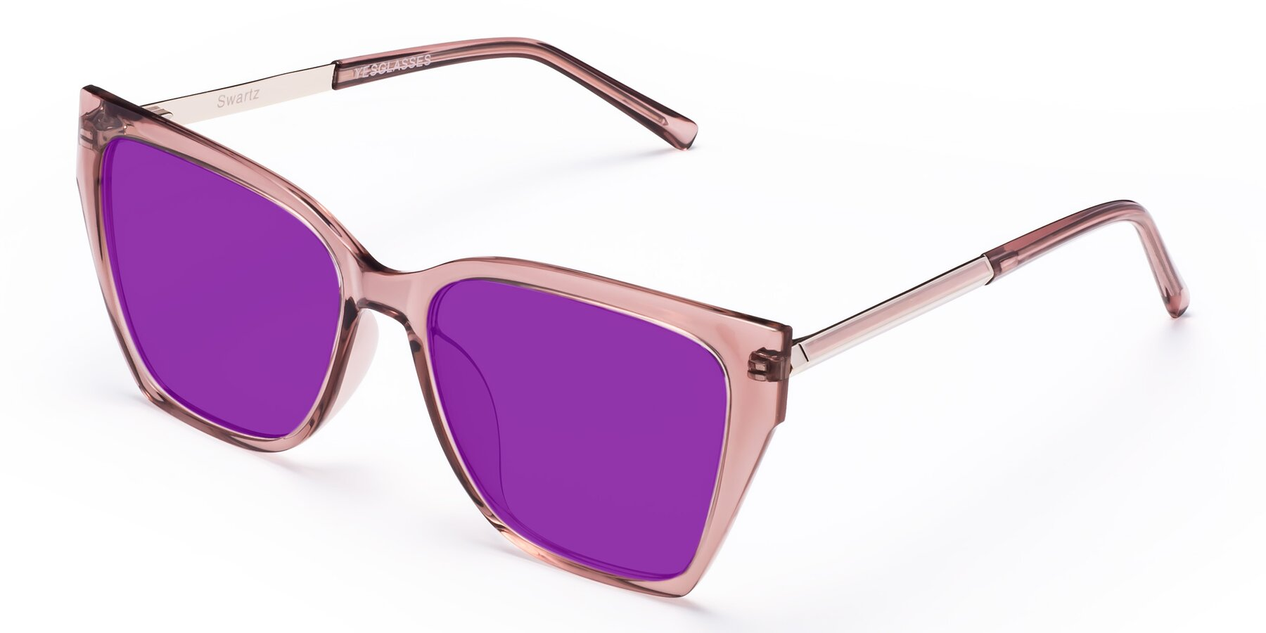 Angle of Swartz in Grape with Purple Tinted Lenses