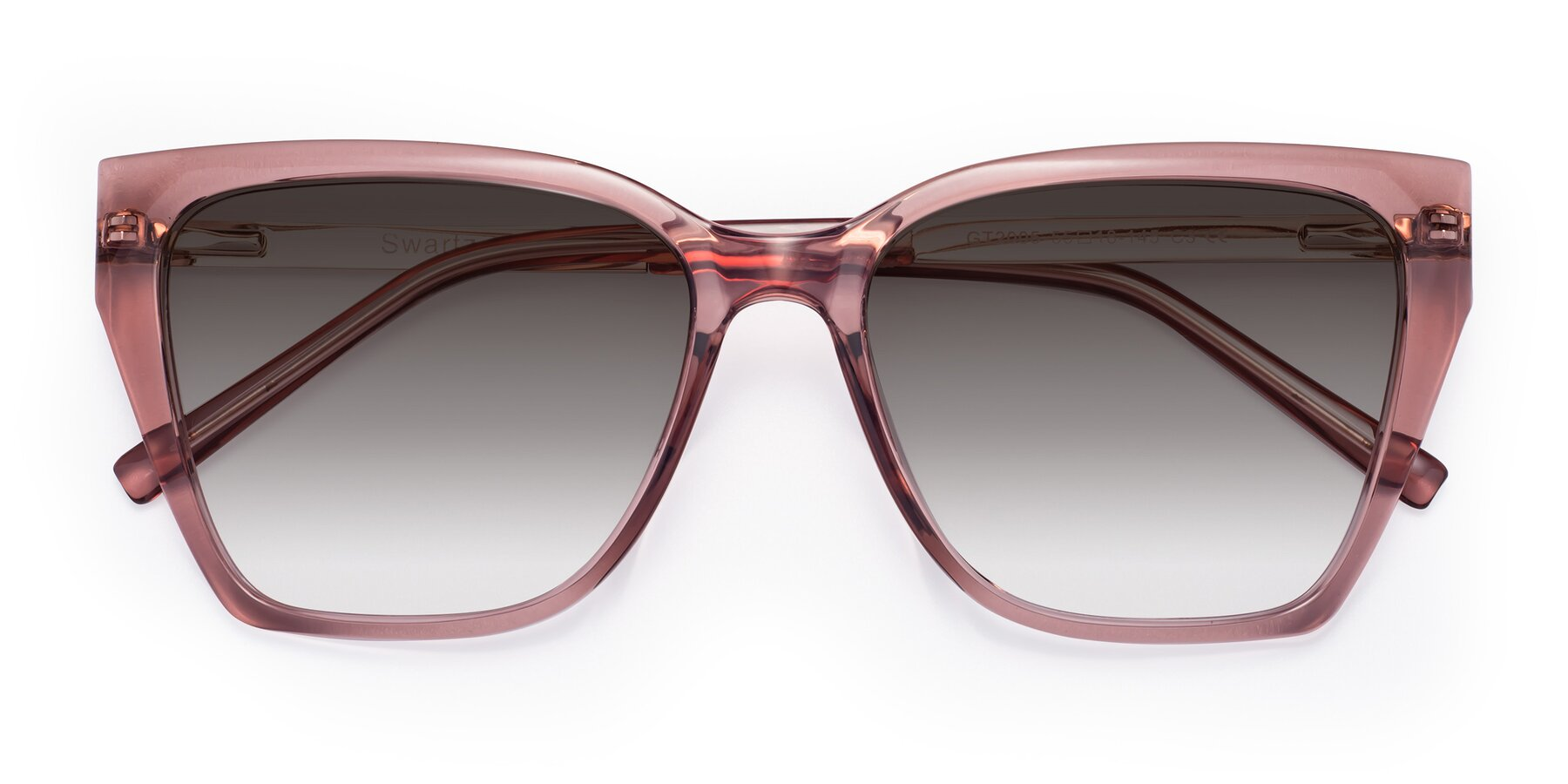 Folded Front of Swartz in Grape with Gray Gradient Lenses