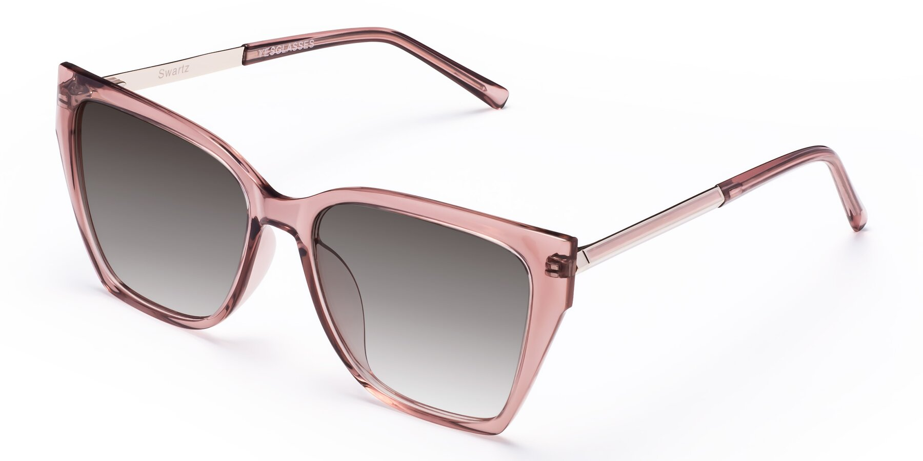 Angle of Swartz in Grape with Gray Gradient Lenses