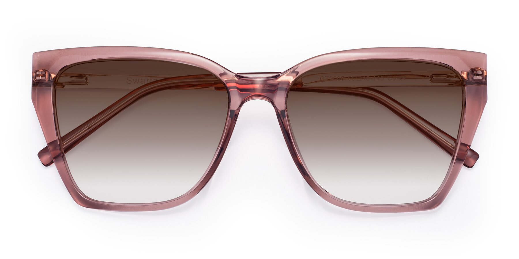 Folded Front of Swartz in Grape with Brown Gradient Lenses