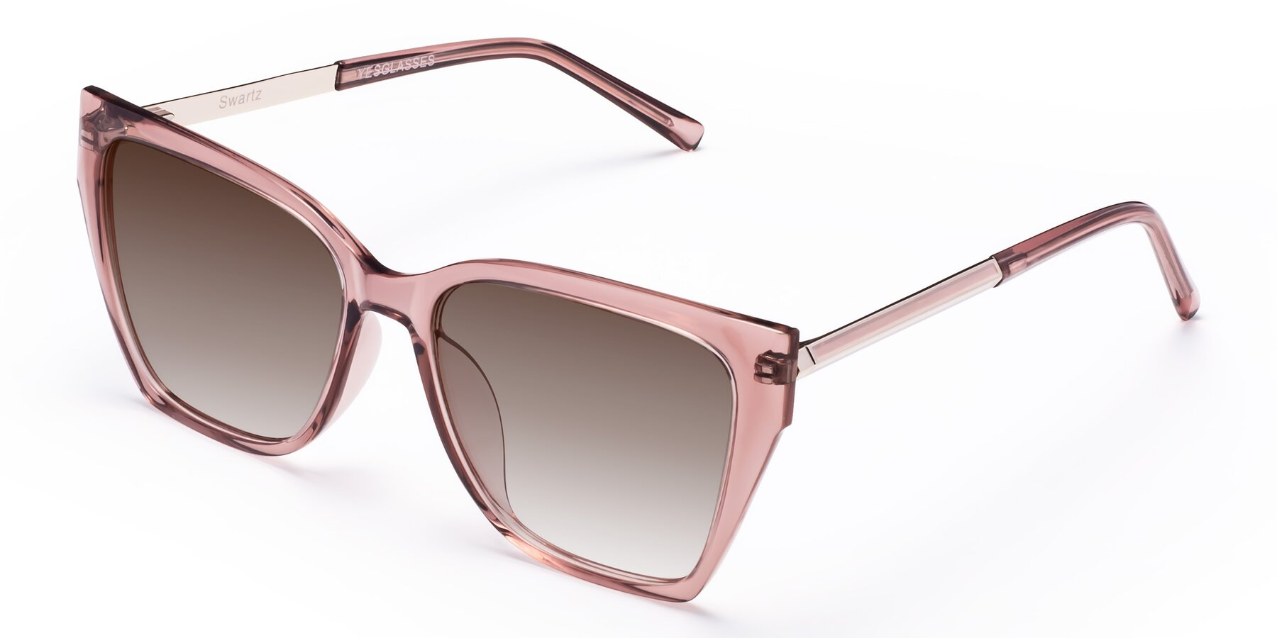Angle of Swartz in Grape with Brown Gradient Lenses