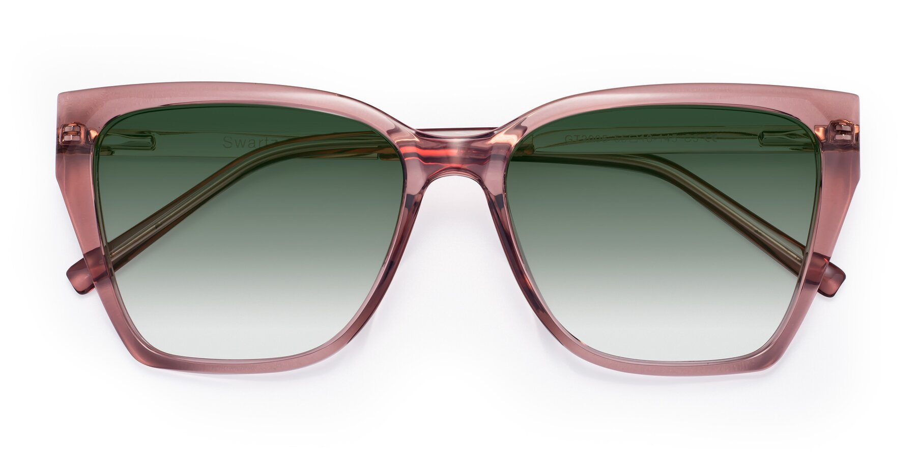Folded Front of Swartz in Grape with Green Gradient Lenses