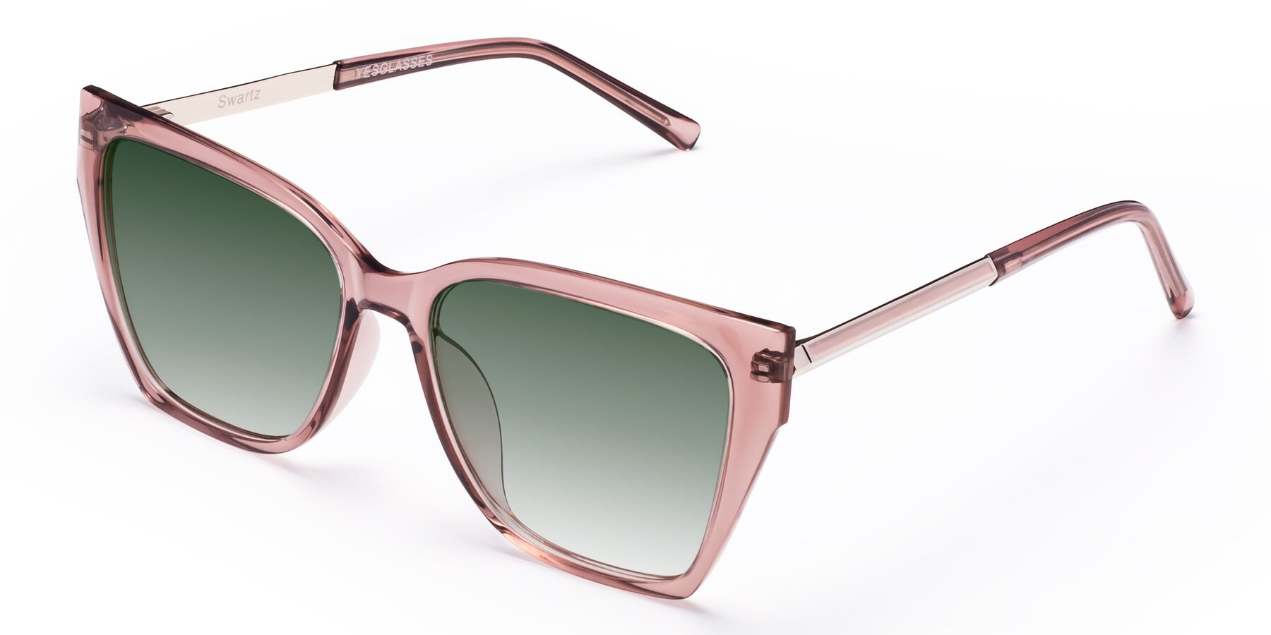 Angle of Swartz in Grape with Green Gradient Lenses