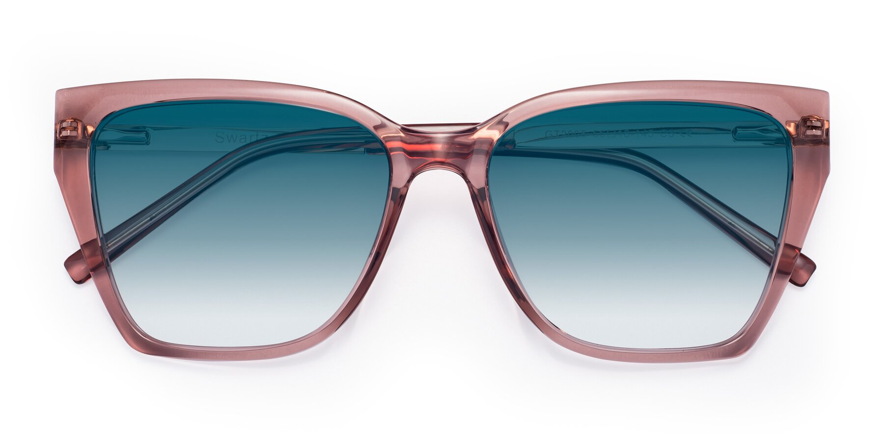 Folded Front of Swartz in Grape with Blue Gradient Lenses