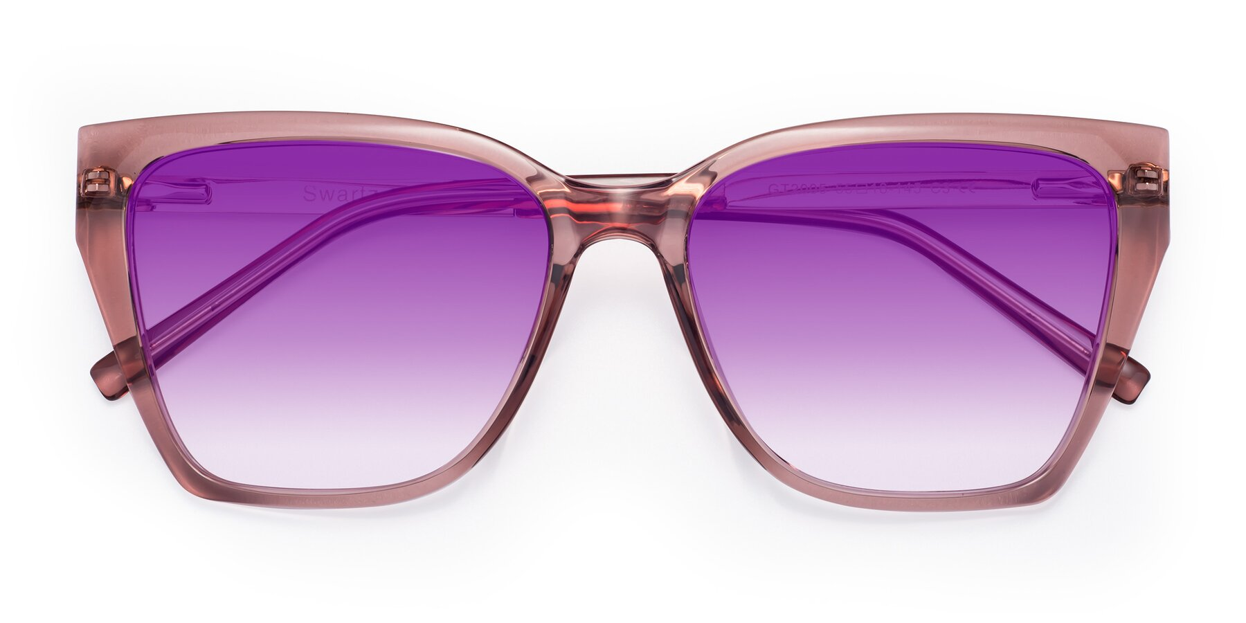 Folded Front of Swartz in Grape with Purple Gradient Lenses