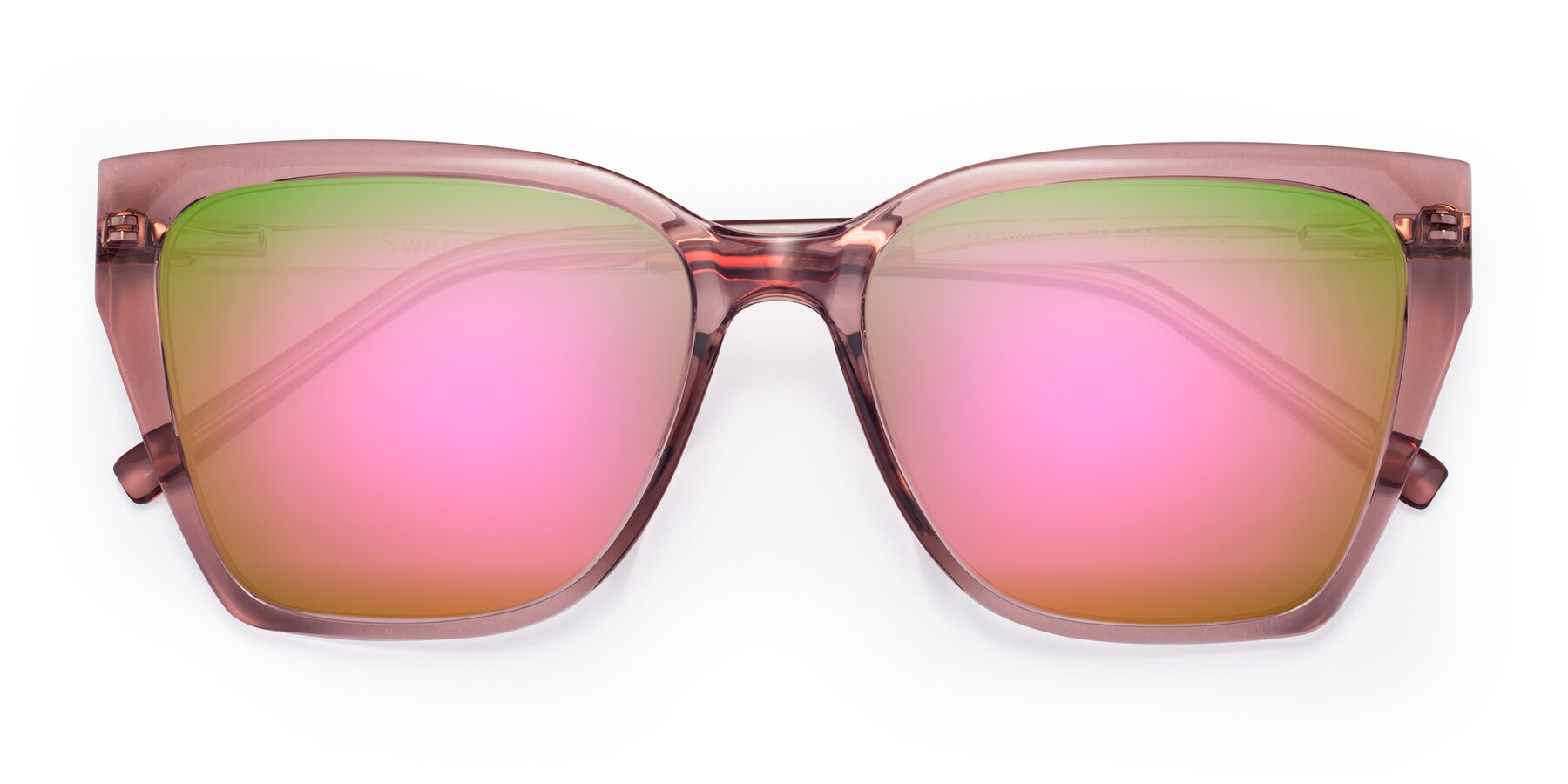 Folded Front of Swartz in Grape with Pink Mirrored Lenses