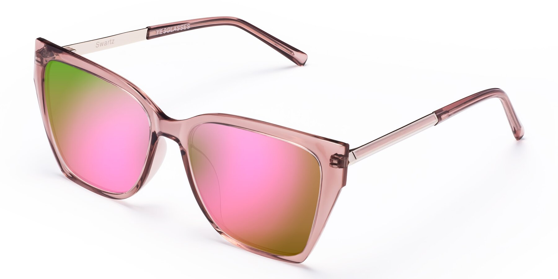 Angle of Swartz in Grape with Pink Mirrored Lenses