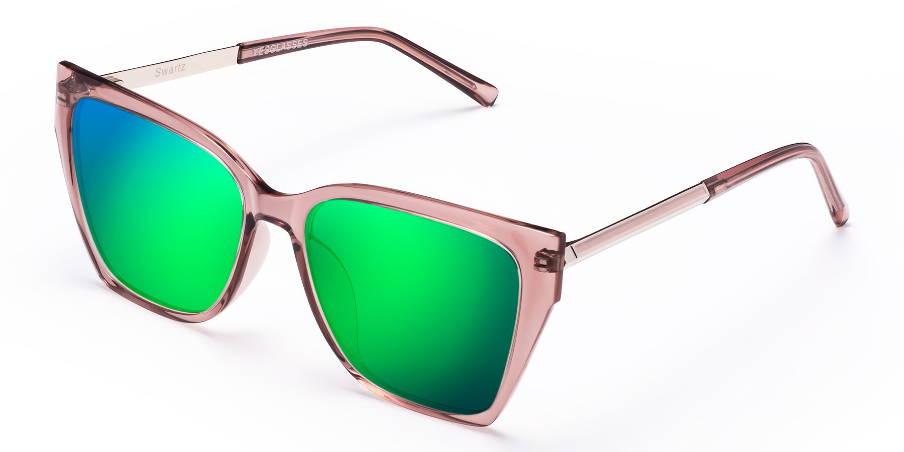 Angle of Swartz in Grape with Green Mirrored Lenses