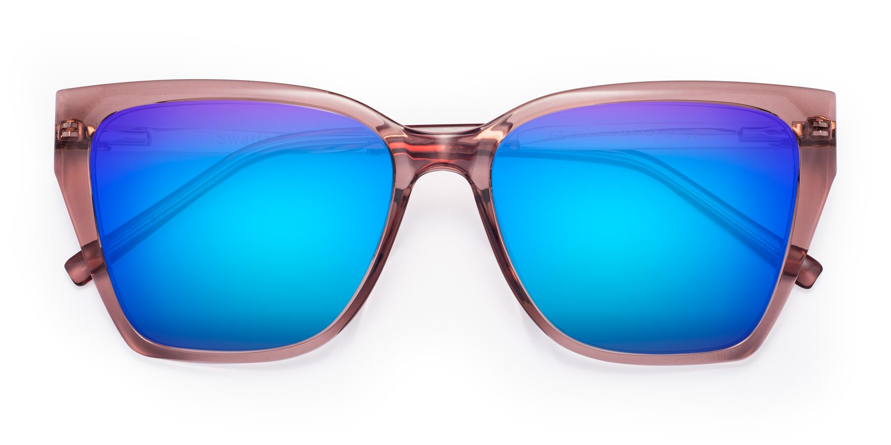 Folded Front of Swartz in Grape with Blue Mirrored Lenses