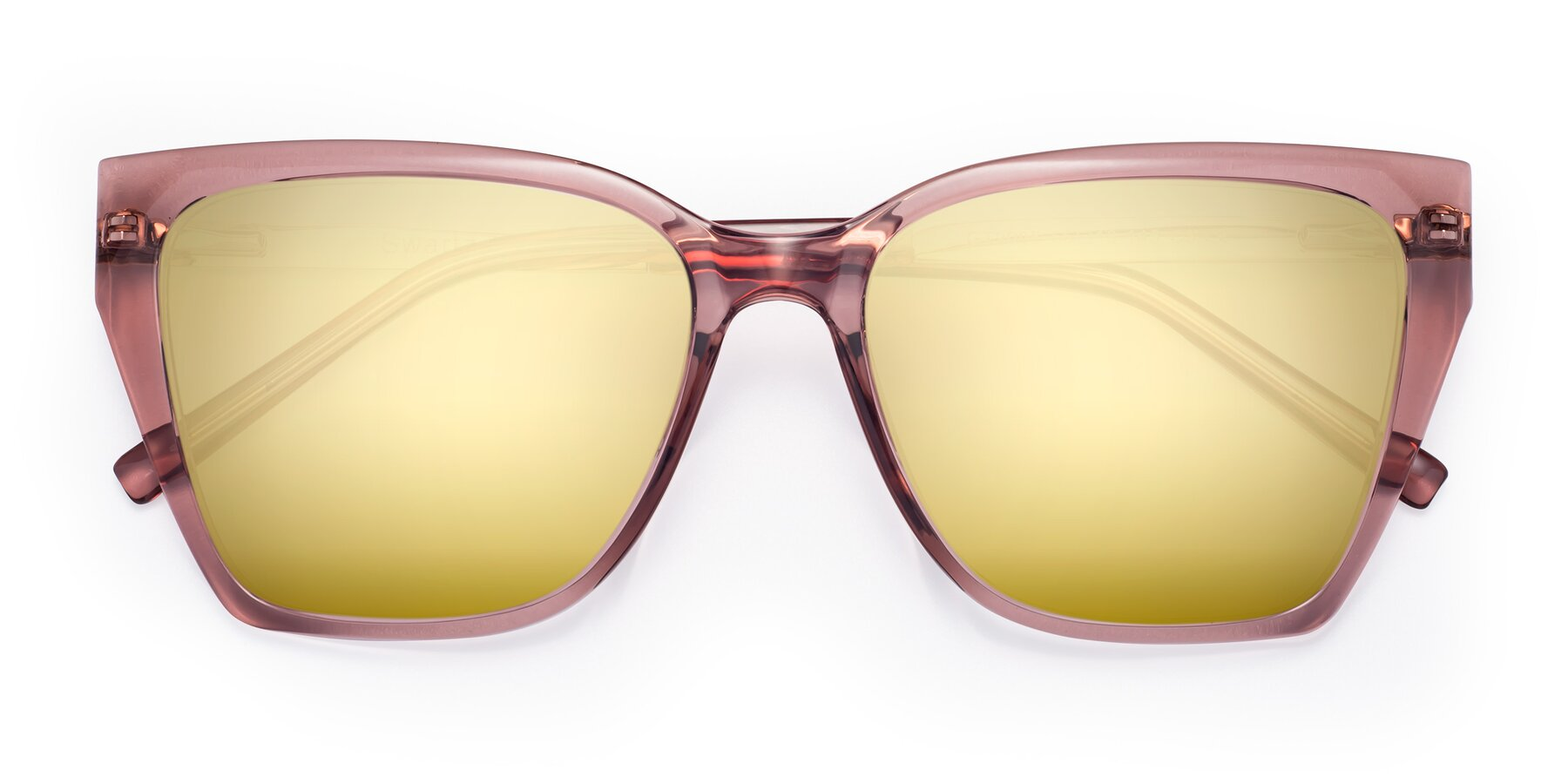 Folded Front of Swartz in Grape with Gold Mirrored Lenses