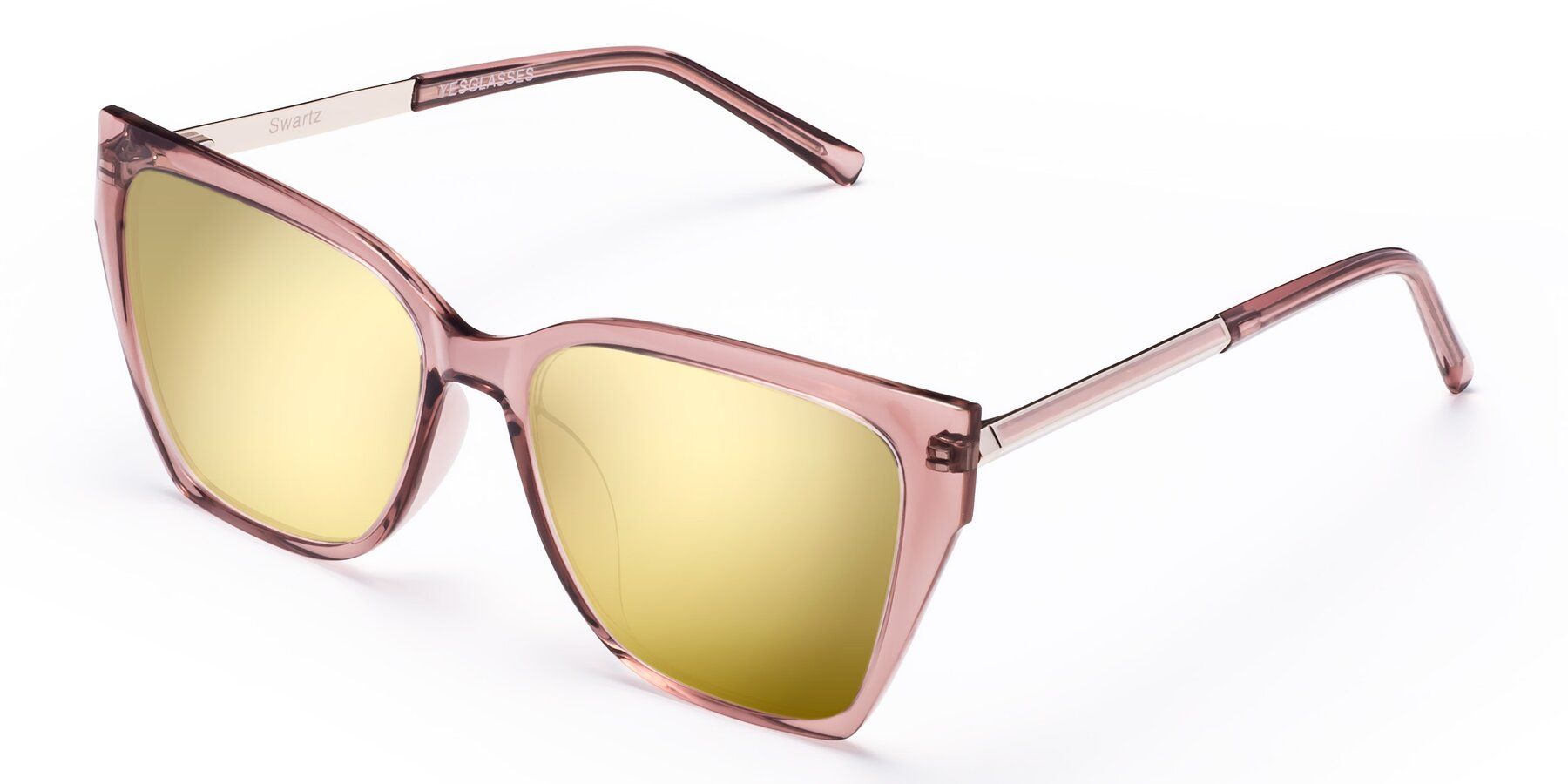 Angle of Swartz in Grape with Gold Mirrored Lenses
