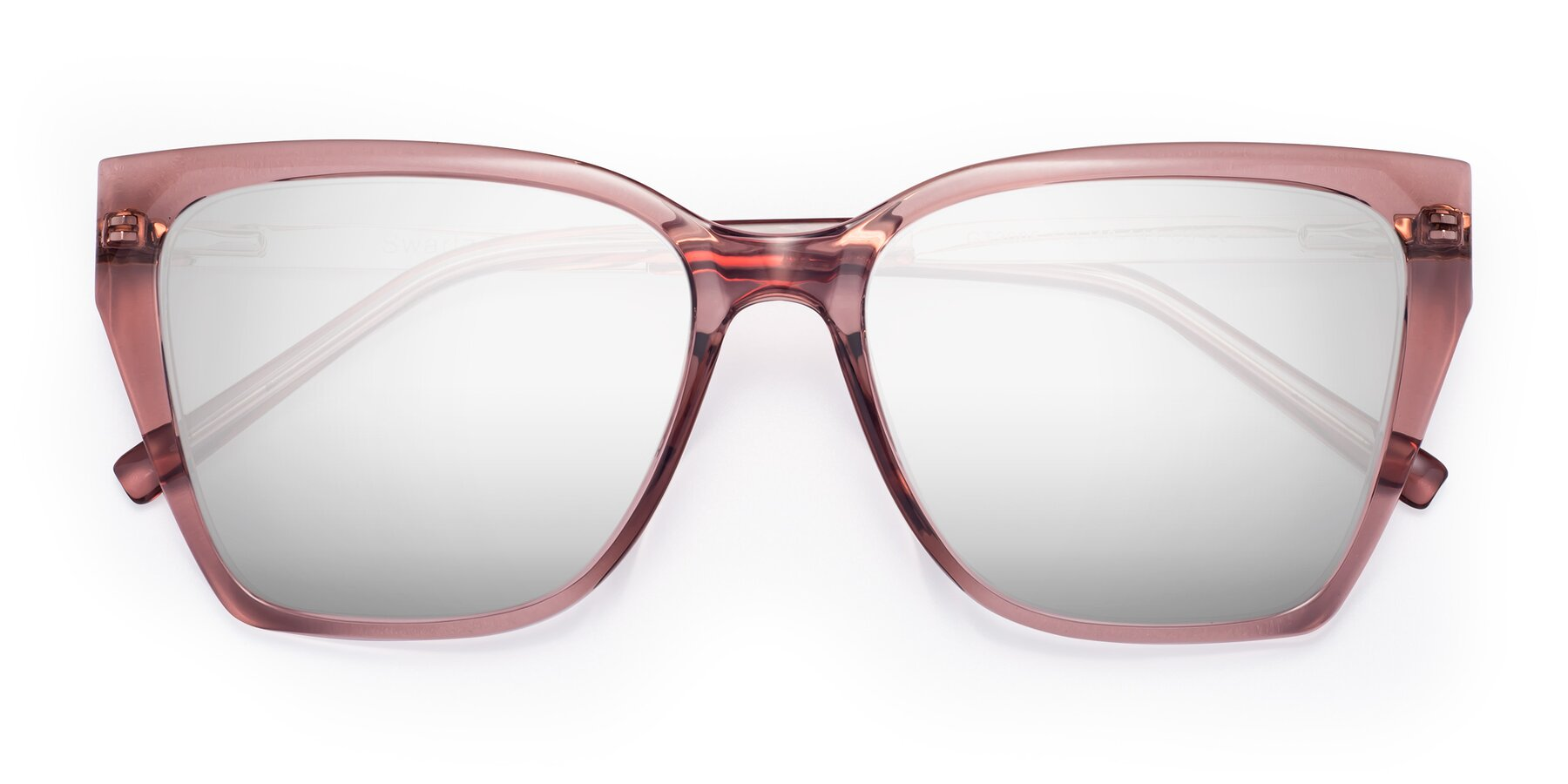 Folded Front of Swartz in Grape with Silver Mirrored Lenses