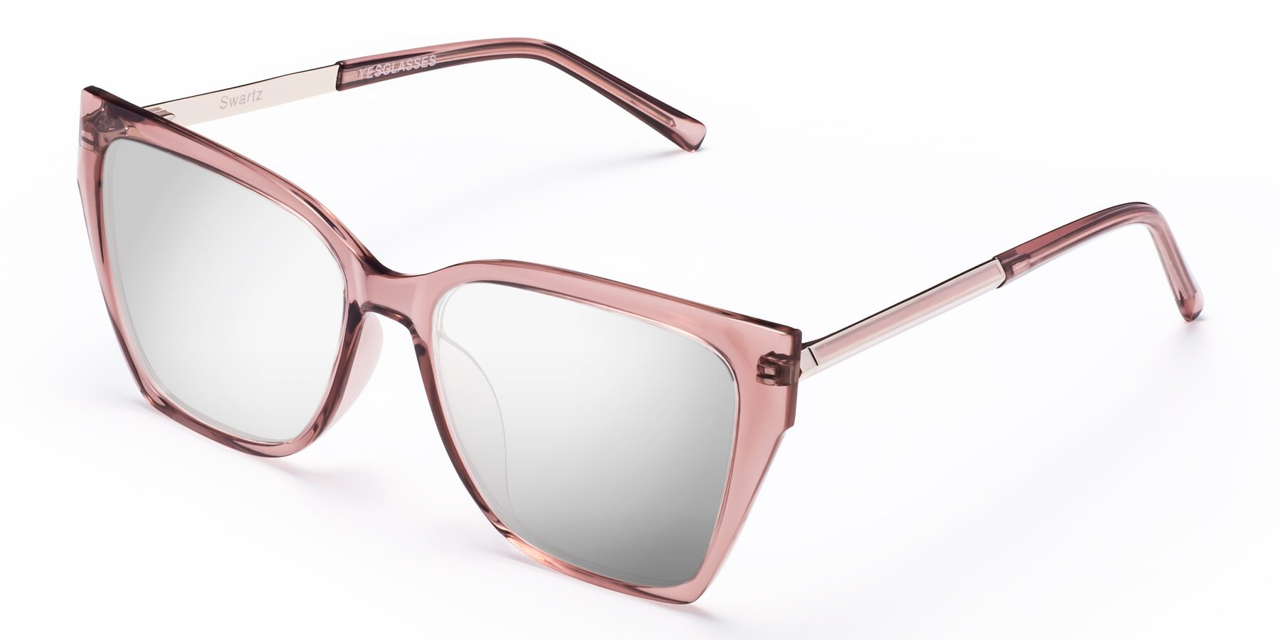Angle of Swartz in Grape with Silver Mirrored Lenses