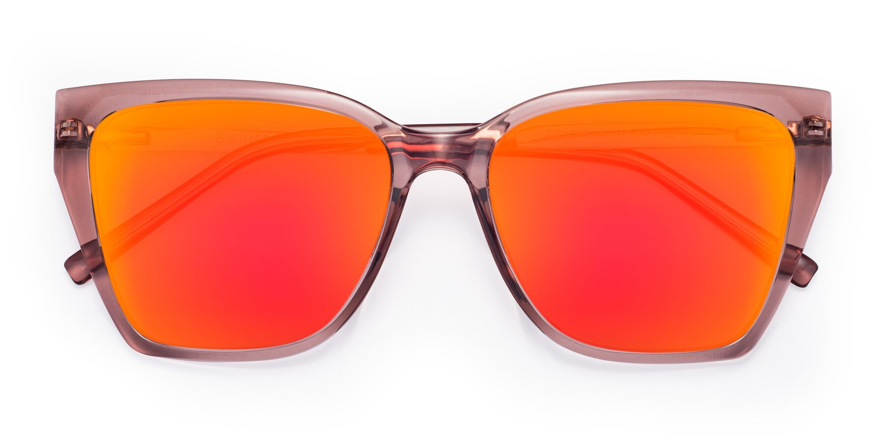 Folded Front of Swartz in Grape with Red Gold Mirrored Lenses