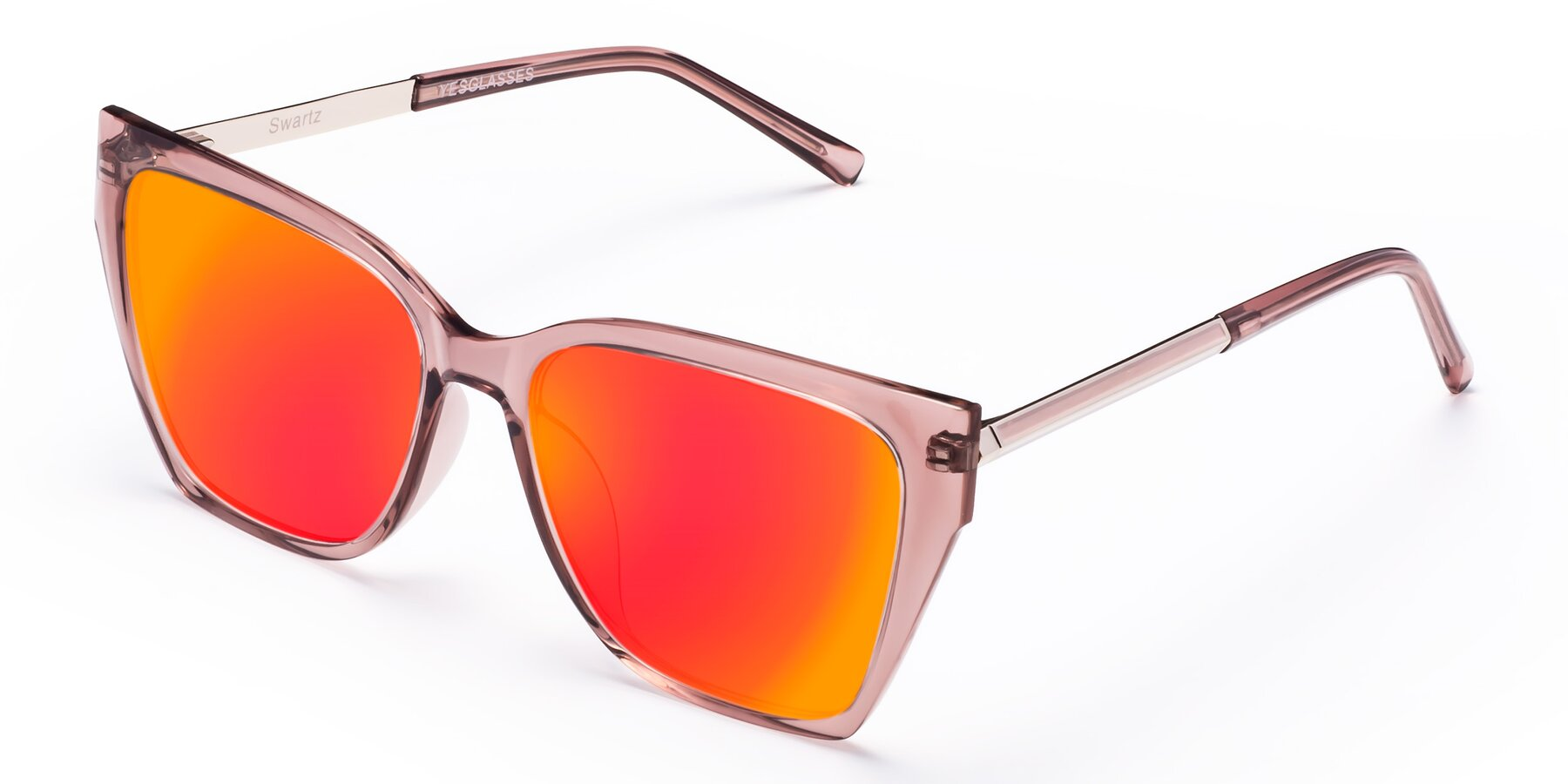 Angle of Swartz in Grape with Red Gold Mirrored Lenses