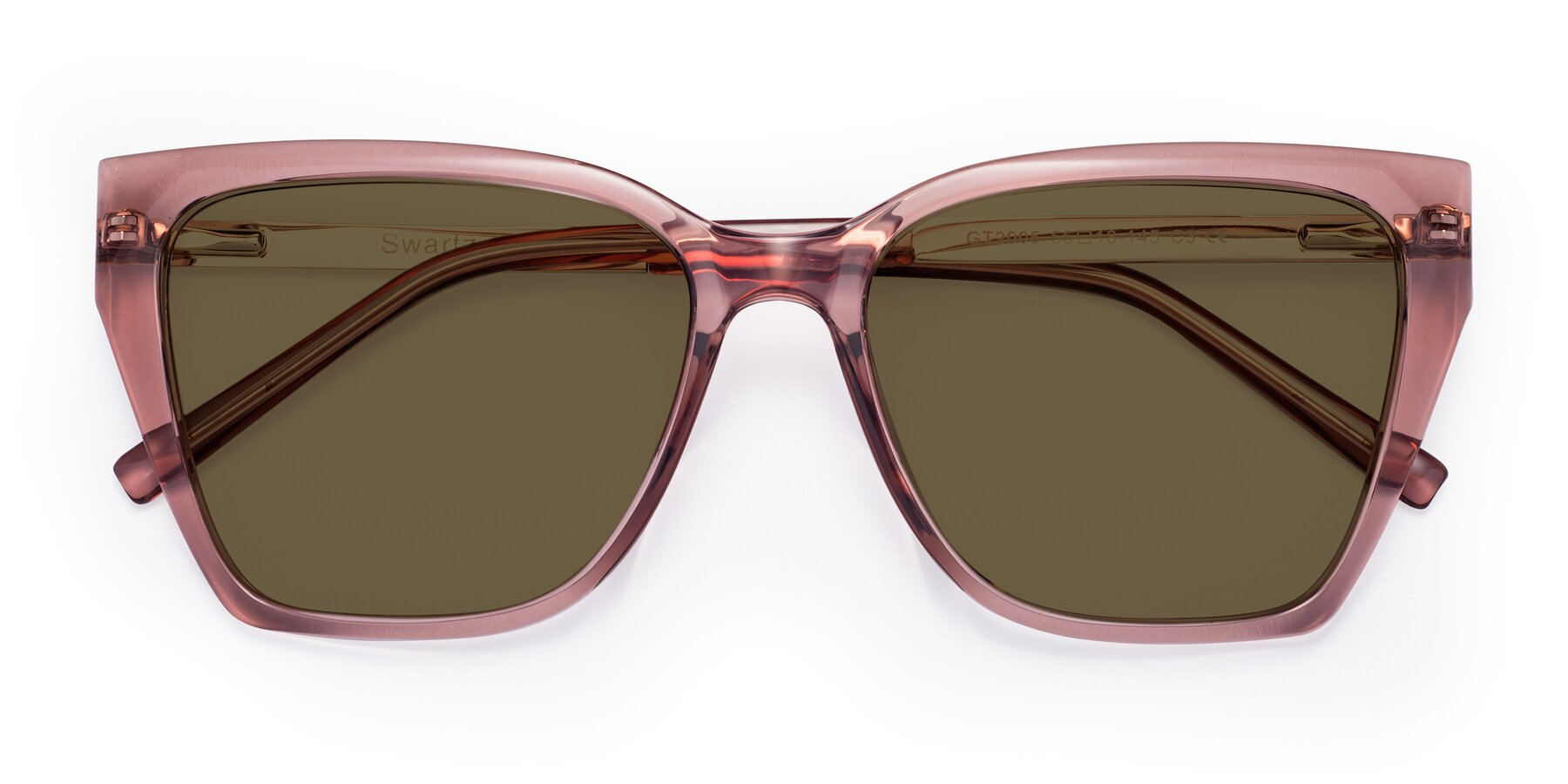 Folded Front of Swartz in Grape with Brown Polarized Lenses