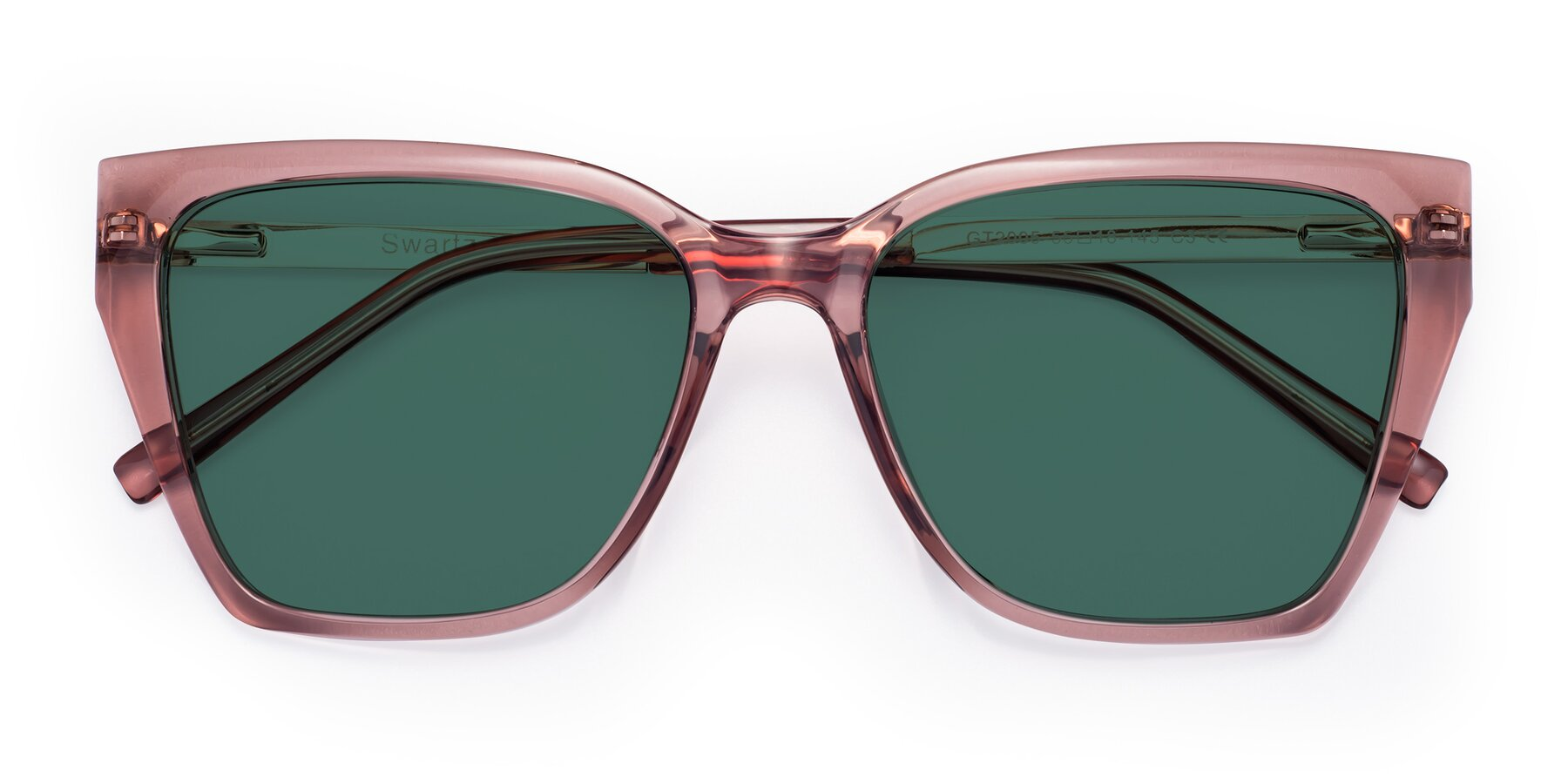 Folded Front of Swartz in Grape with Green Polarized Lenses