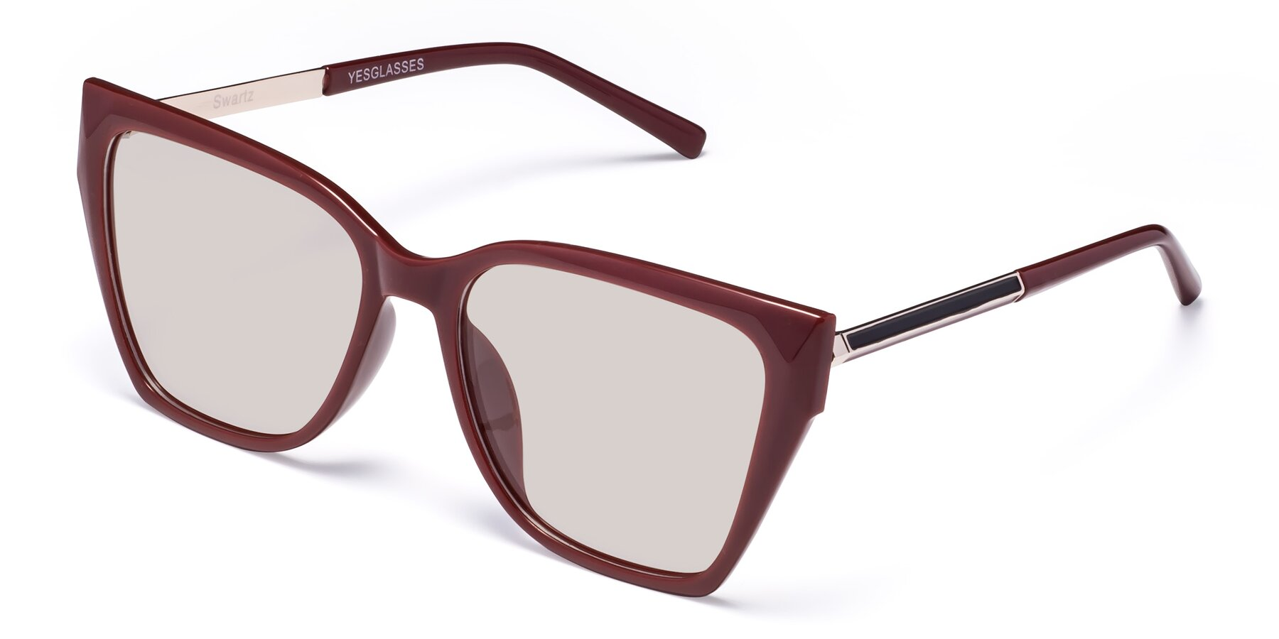 Angle of Swartz in Wine with Light Brown Tinted Lenses