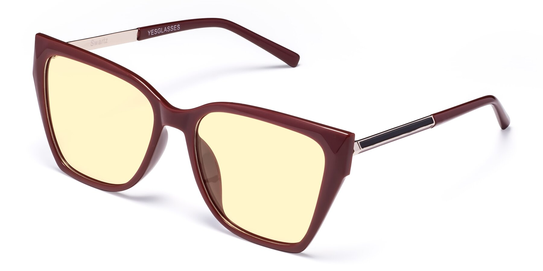 Angle of Swartz in Wine with Light Yellow Tinted Lenses