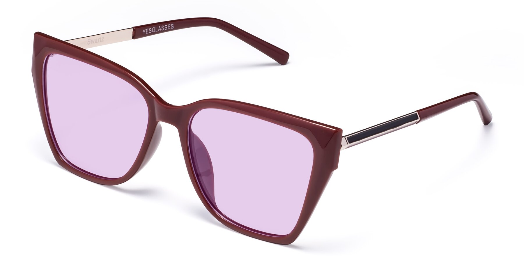 Angle of Swartz in Wine with Light Purple Tinted Lenses