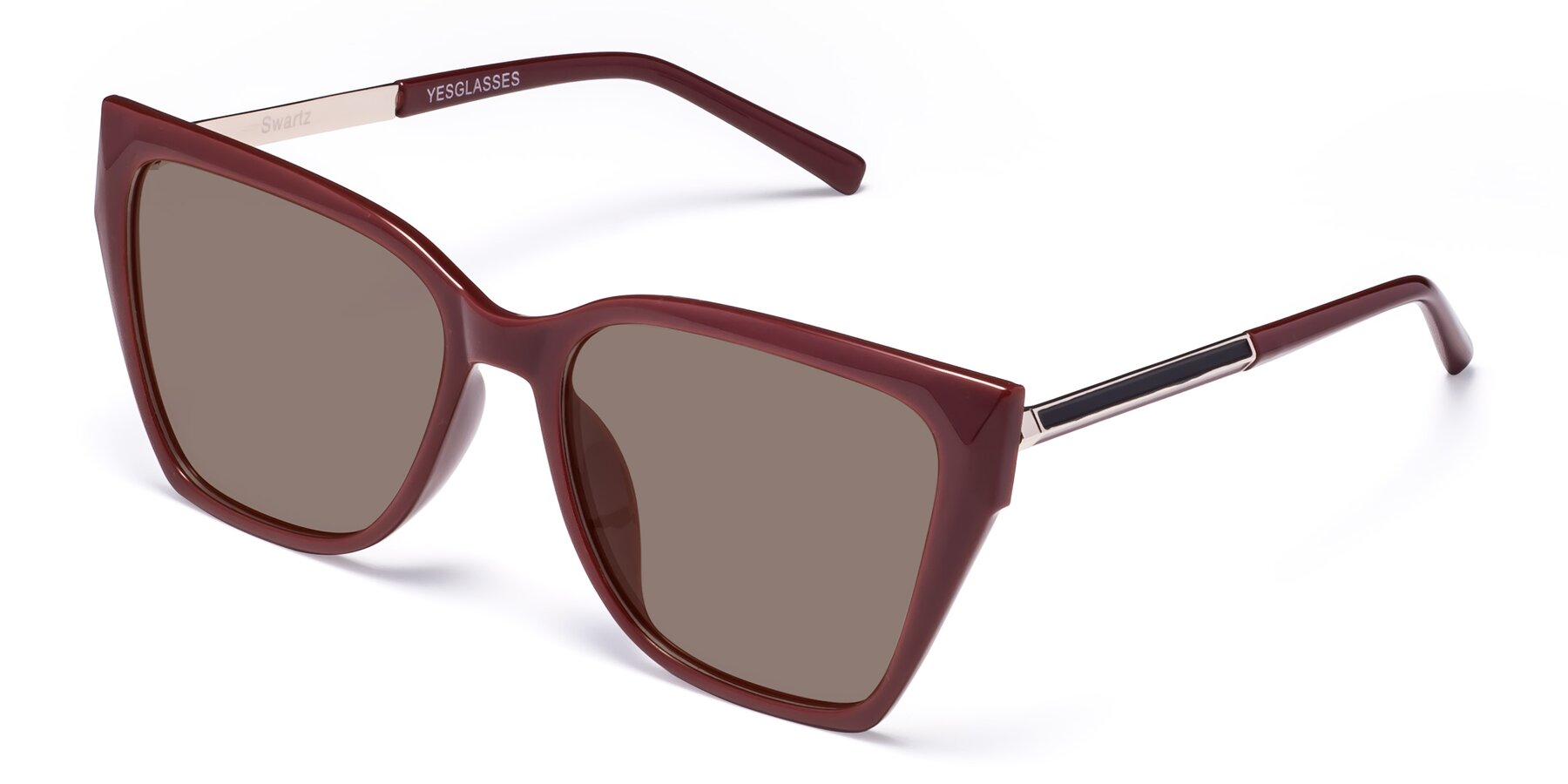 Angle of Swartz in Wine with Medium Brown Tinted Lenses