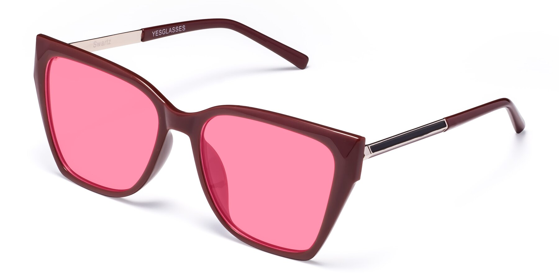 Angle of Swartz in Wine with Pink Tinted Lenses