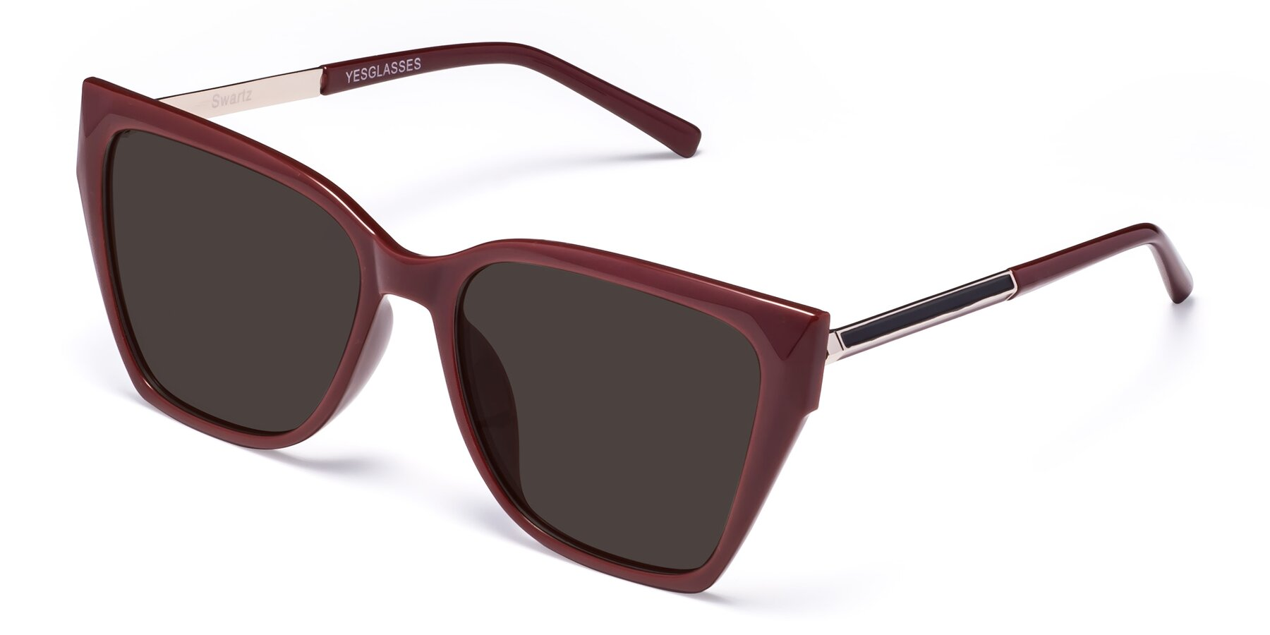 Angle of Swartz in Wine with Gray Tinted Lenses