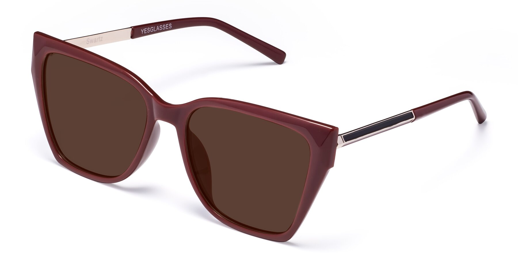 Angle of Swartz in Wine with Brown Tinted Lenses
