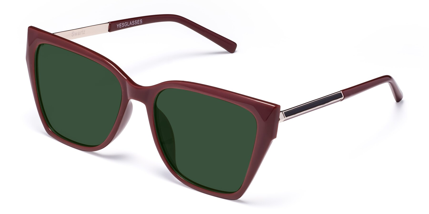 Angle of Swartz in Wine with Green Tinted Lenses