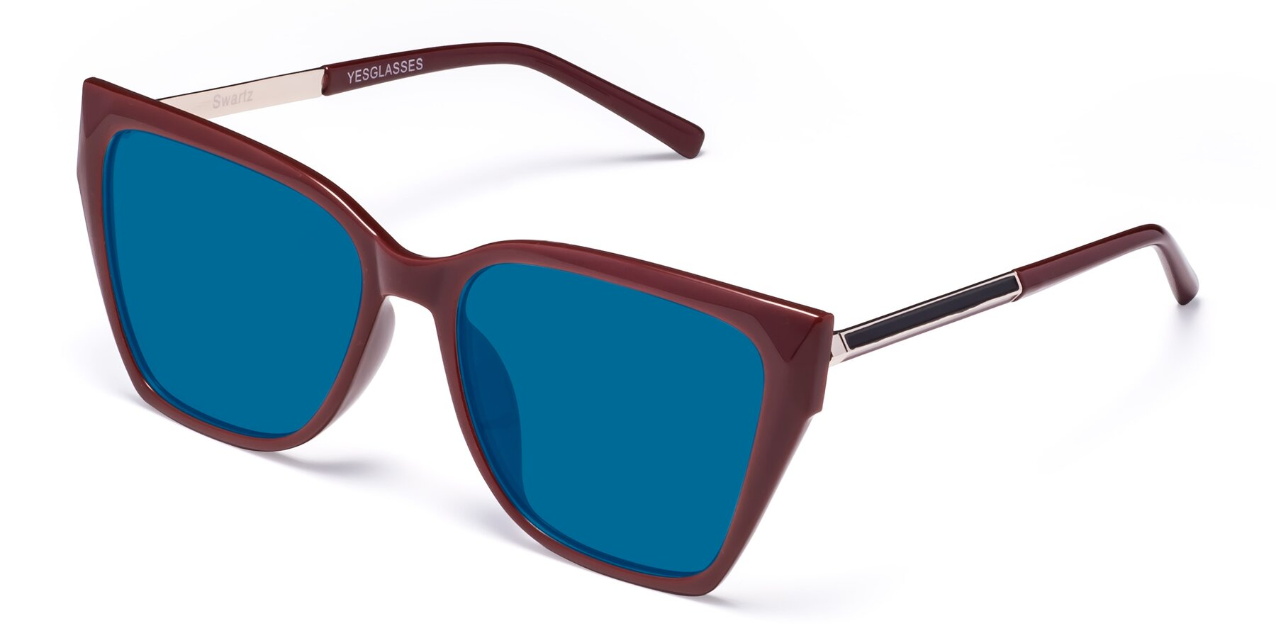 Angle of Swartz in Wine with Blue Tinted Lenses