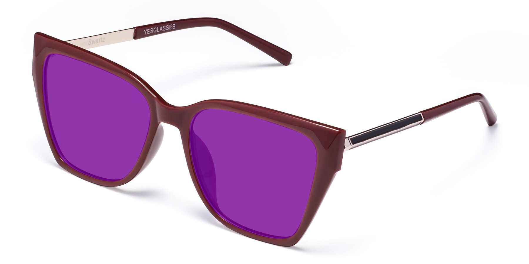 Angle of Swartz in Wine with Purple Tinted Lenses