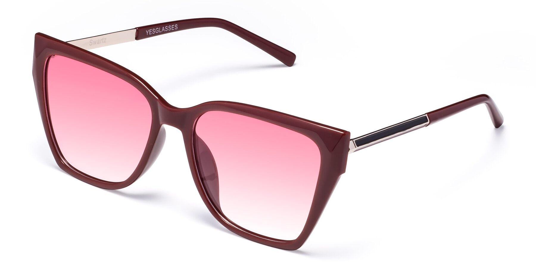 Angle of Swartz in Wine with Pink Gradient Lenses
