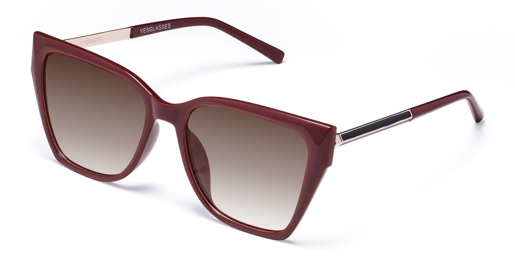 Angle of Swartz in Wine with Brown Gradient Lenses