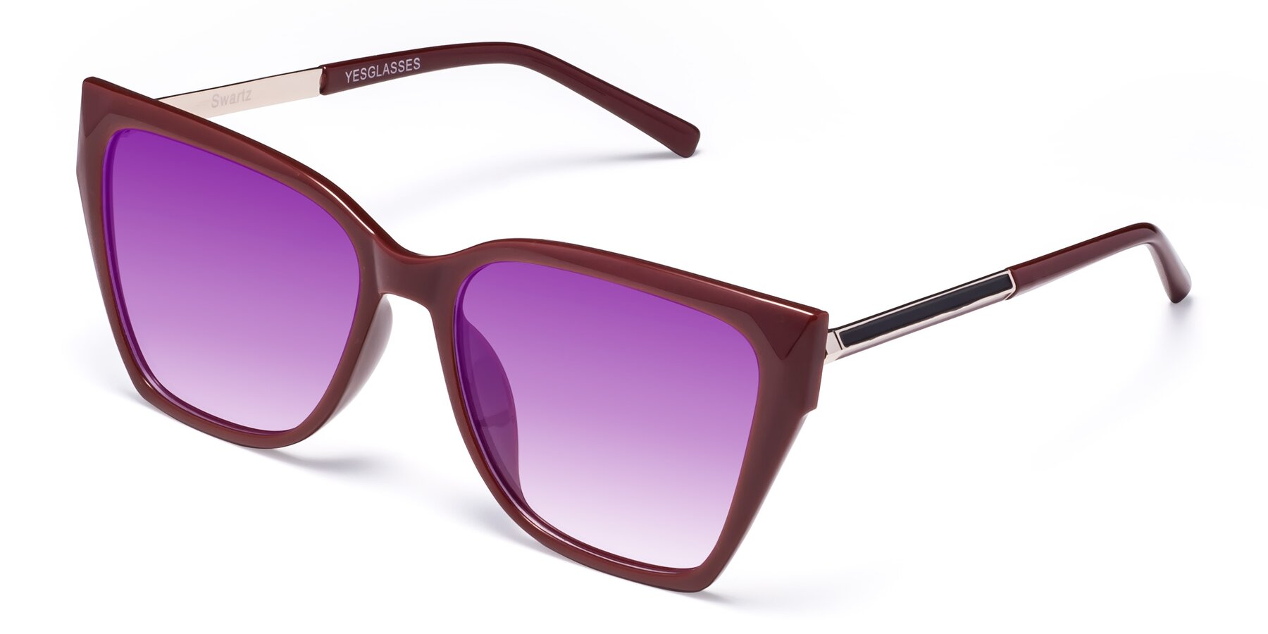 Angle of Swartz in Wine with Purple Gradient Lenses