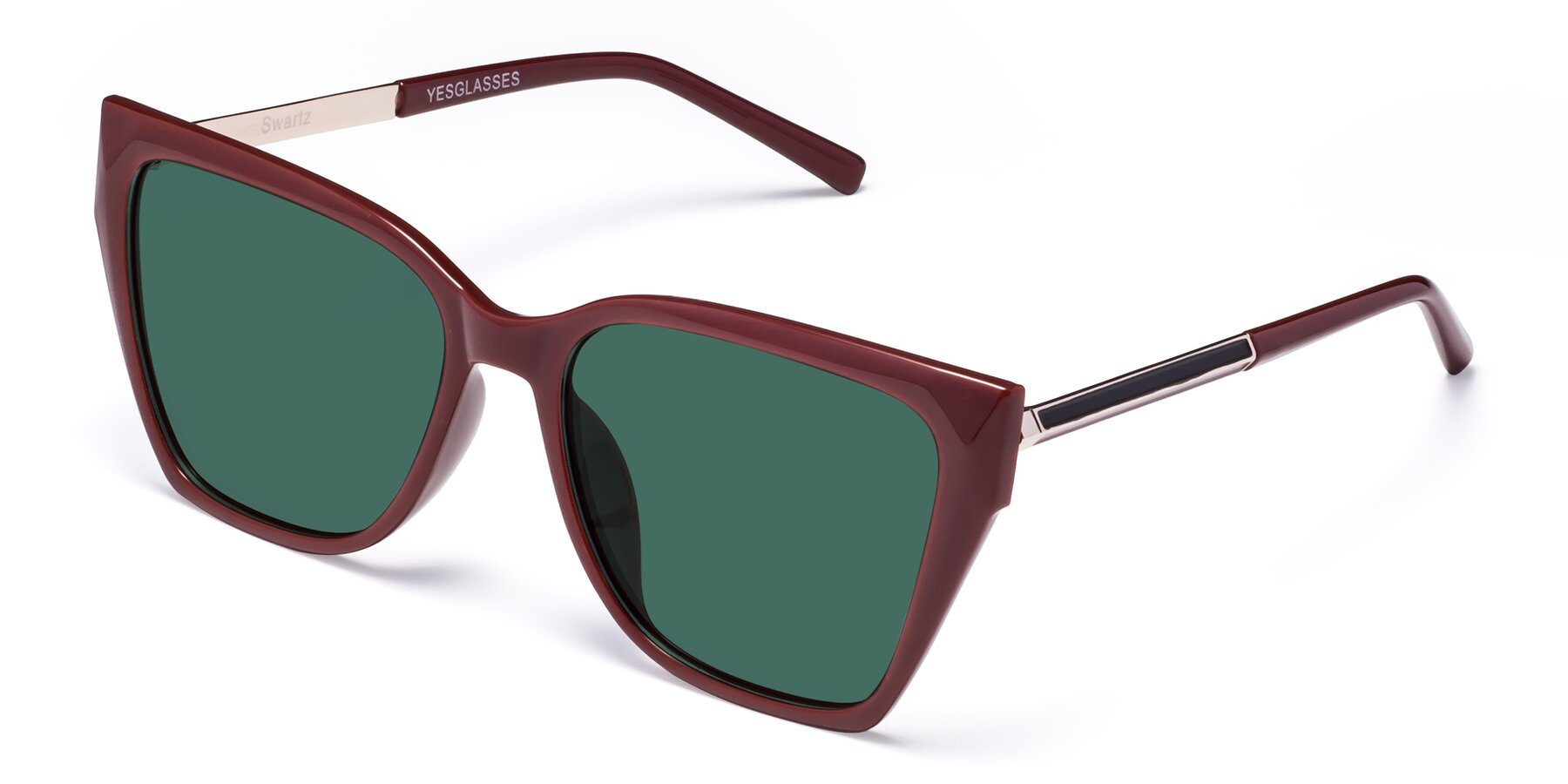 Angle of Swartz in Wine with Green Polarized Lenses