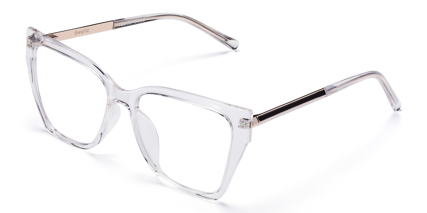 Angle of Swartz in Clear with Clear Blue Light Blocking Lenses