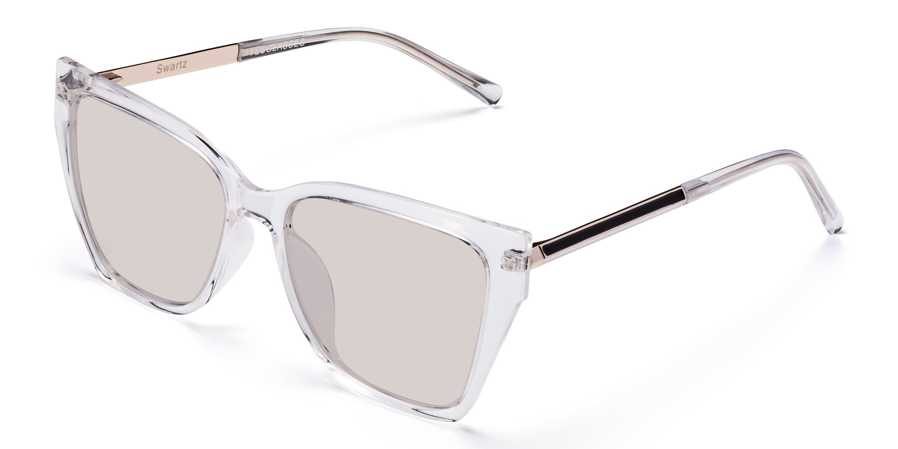 Angle of Swartz in Clear with Light Brown Tinted Lenses