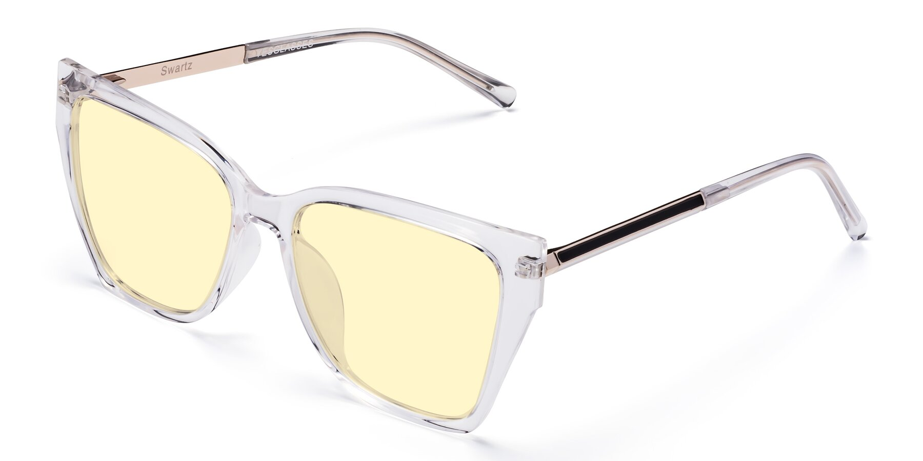 Angle of Swartz in Clear with Light Yellow Tinted Lenses