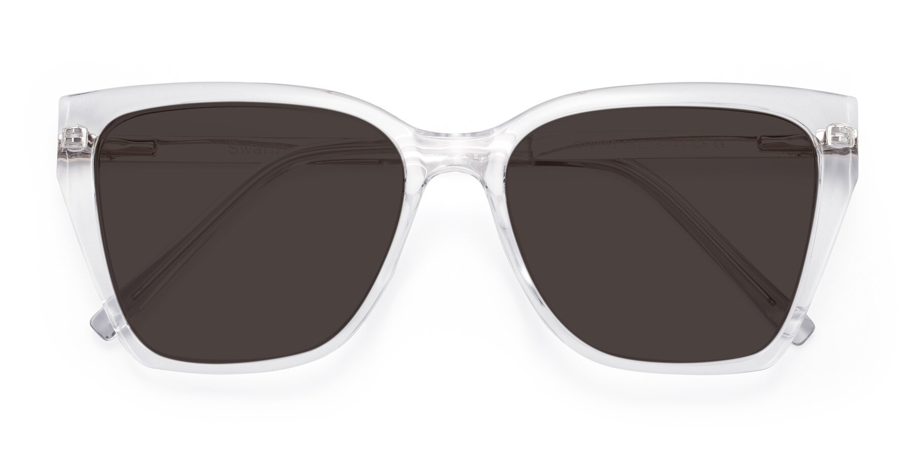 Folded Front of Swartz in Clear with Gray Tinted Lenses