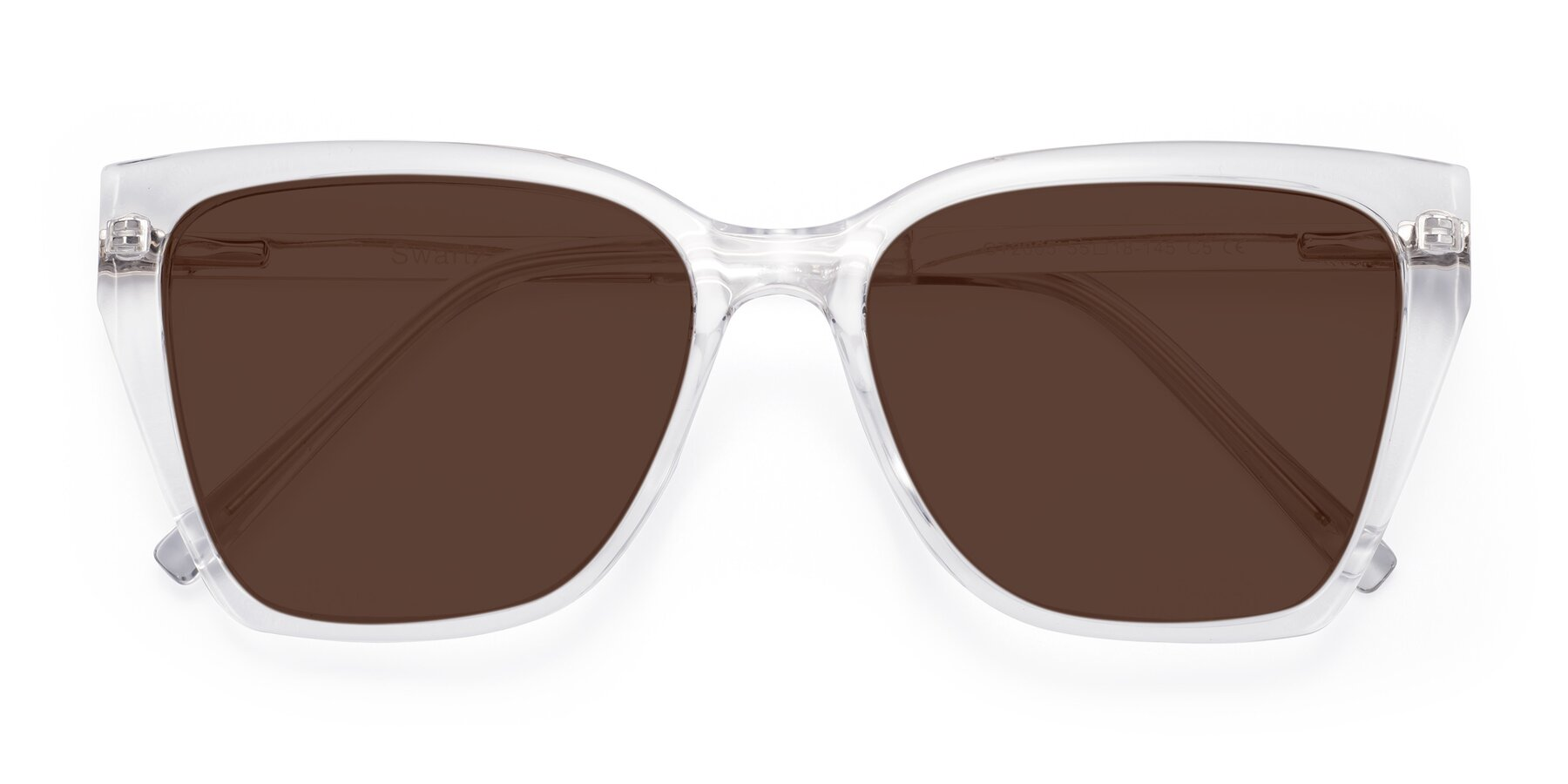Folded Front of Swartz in Clear with Brown Tinted Lenses