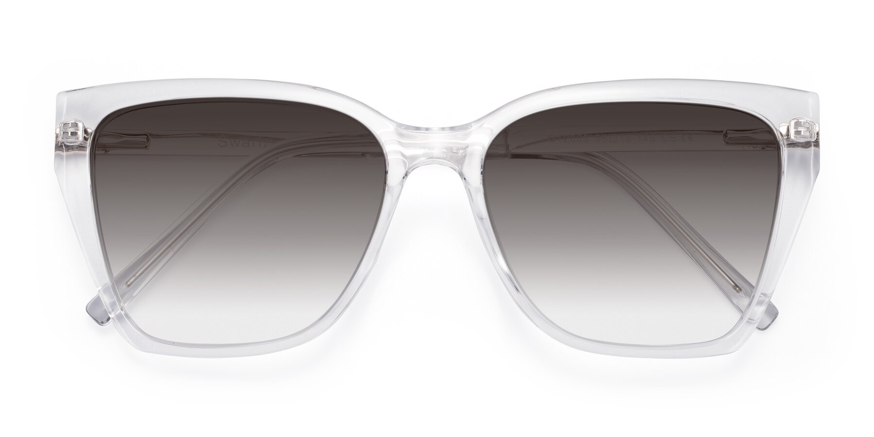 Folded Front of Swartz in Clear with Gray Gradient Lenses