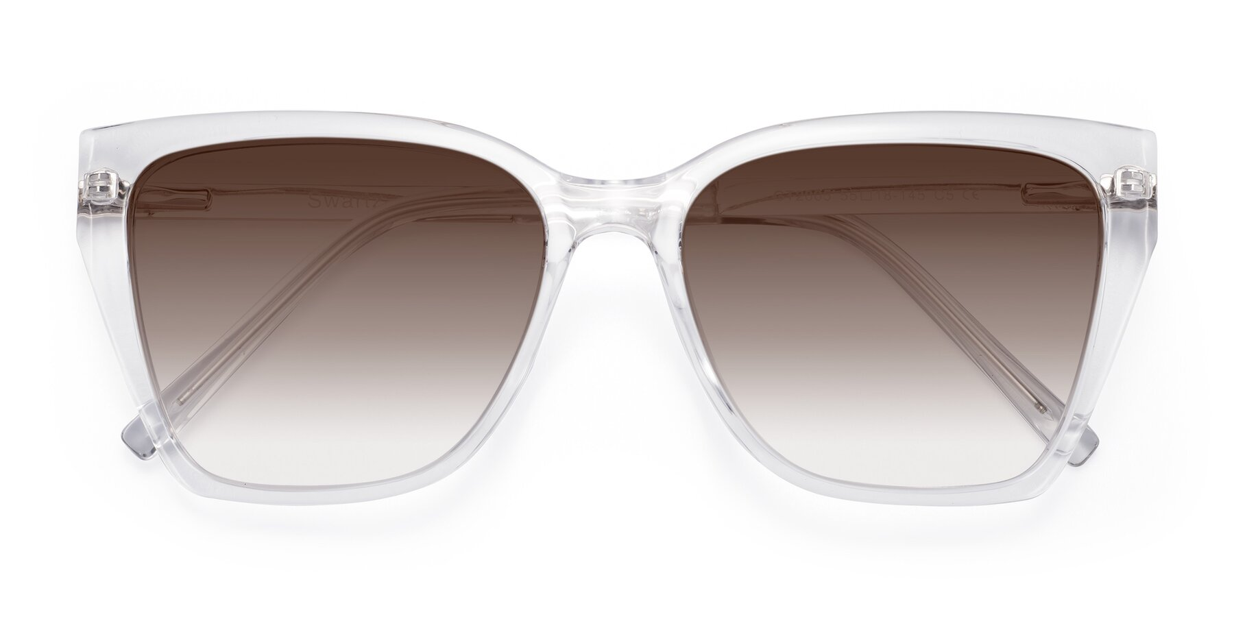 Folded Front of Swartz in Clear with Brown Gradient Lenses