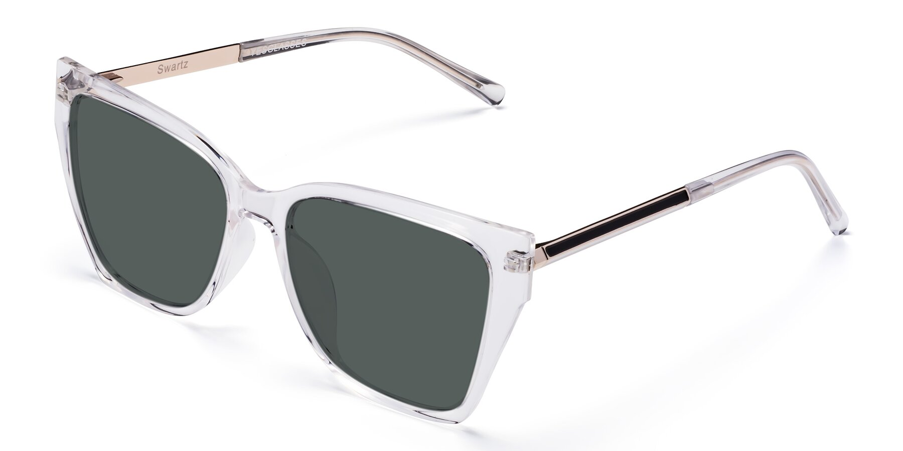 Angle of Swartz in Clear with Gray Polarized Lenses