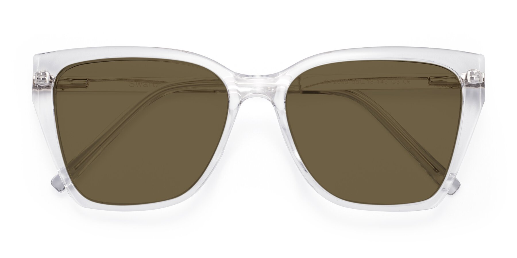 Folded Front of Swartz in Clear with Brown Polarized Lenses
