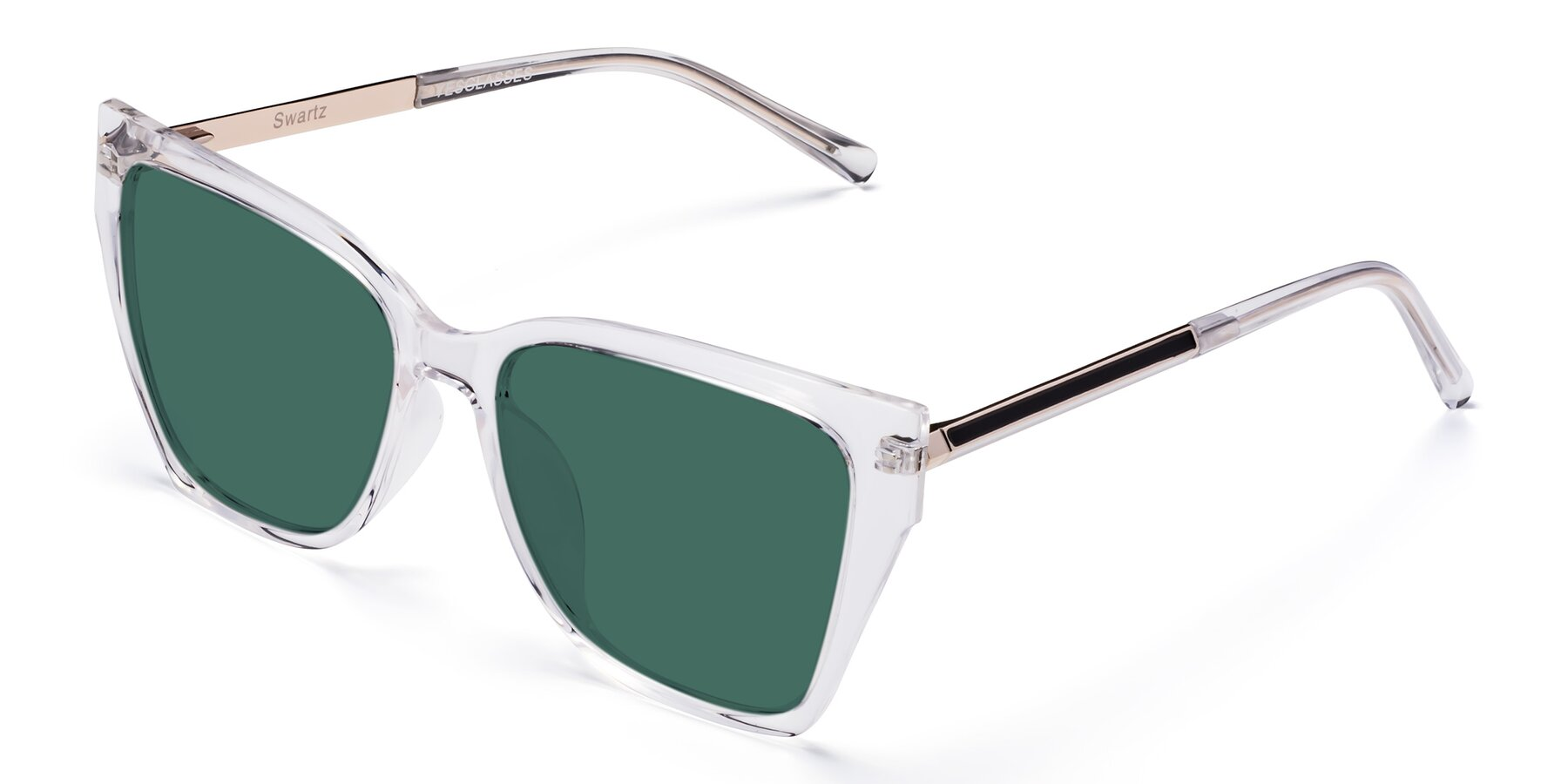 Angle of Swartz in Clear with Green Polarized Lenses