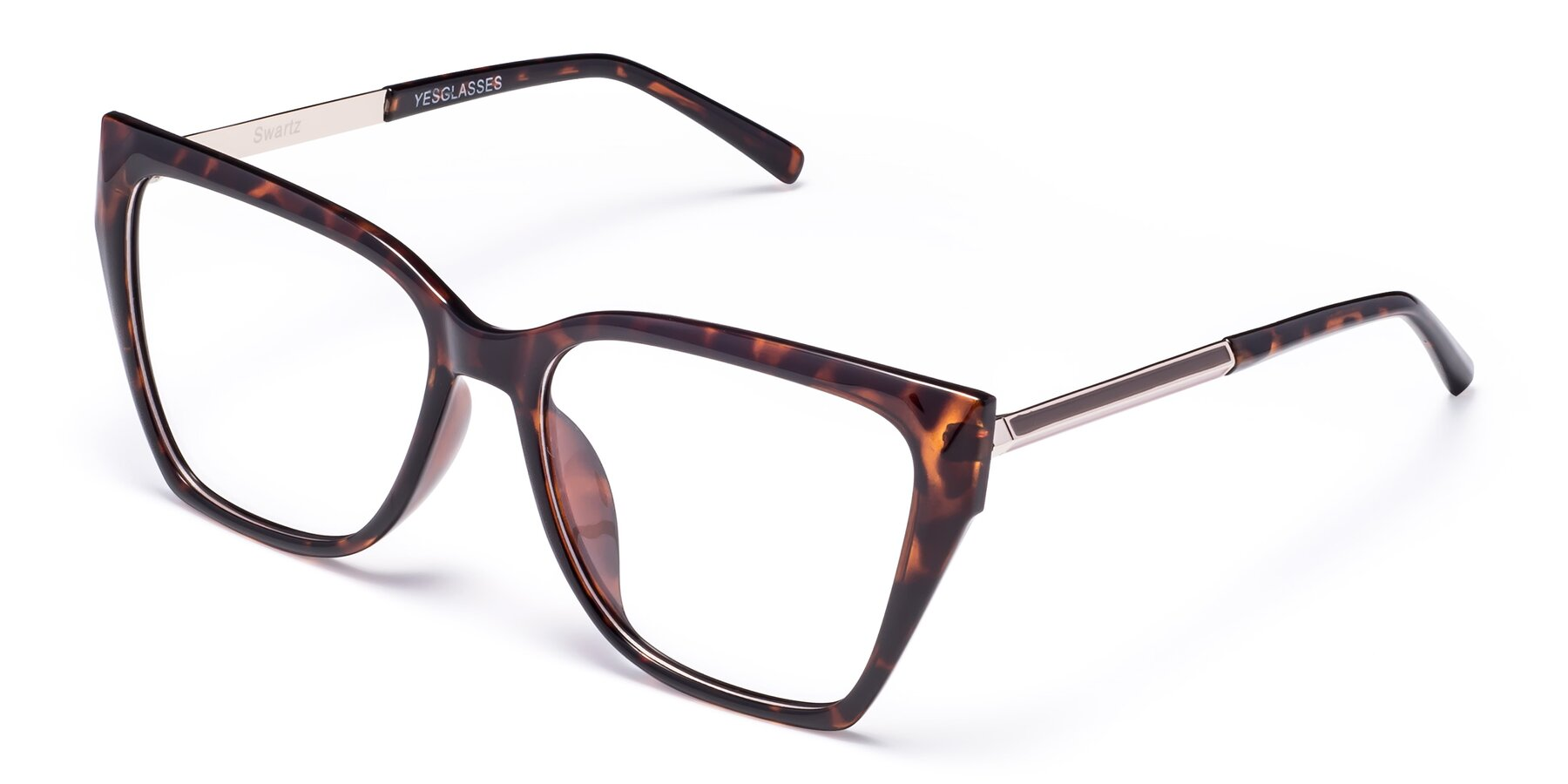 Angle of Swartz in Tortoise with Clear Blue Light Blocking Lenses