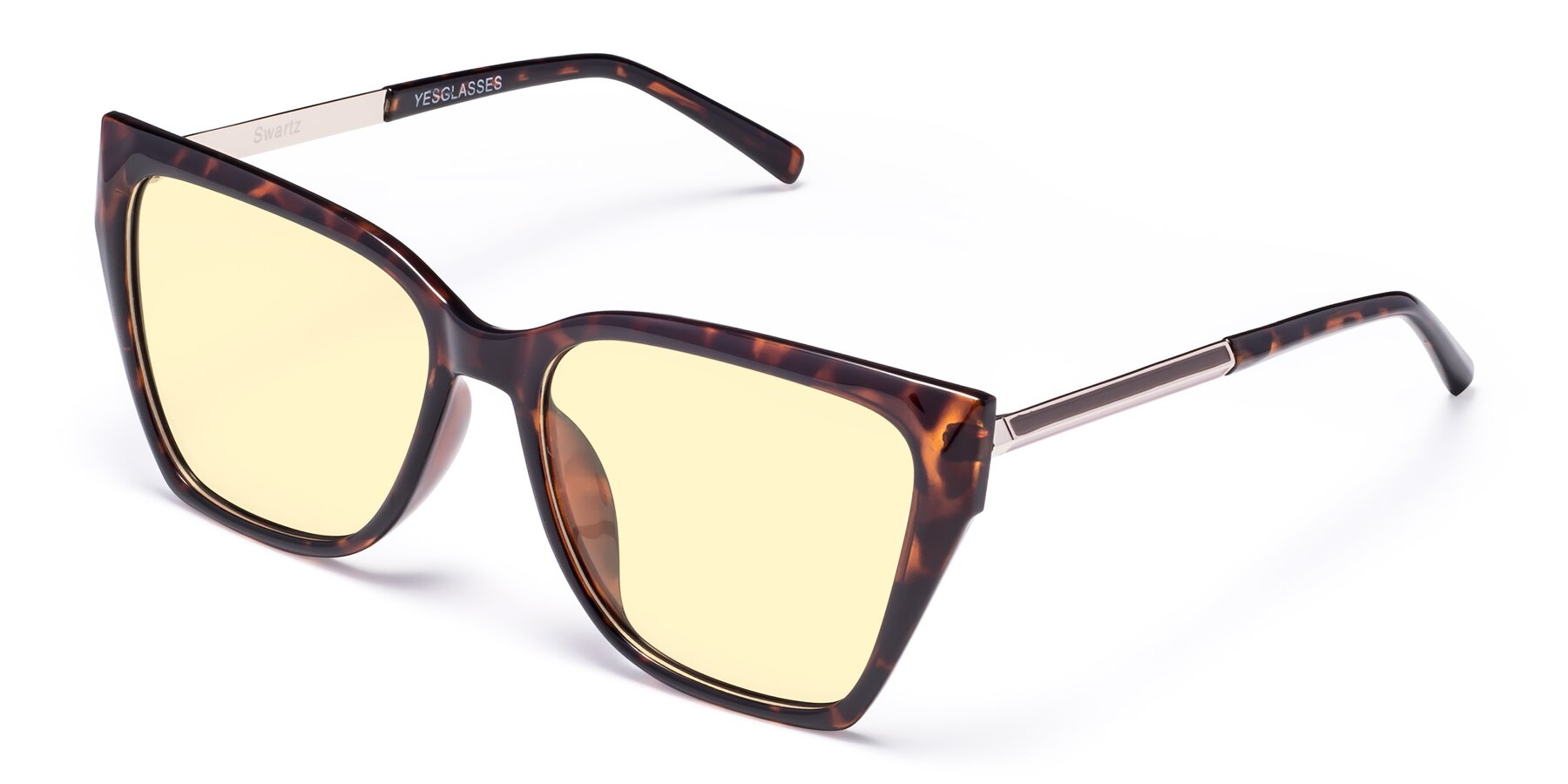 Angle of Swartz in Tortoise with Light Yellow Tinted Lenses