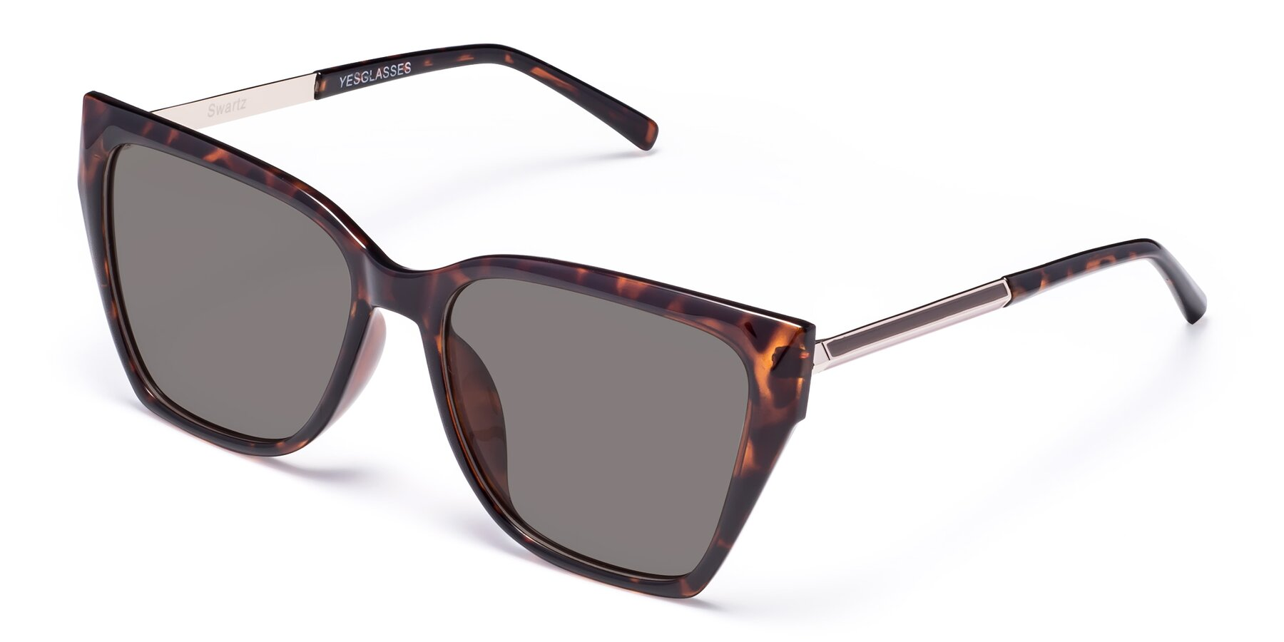 Angle of Swartz in Tortoise with Medium Gray Tinted Lenses