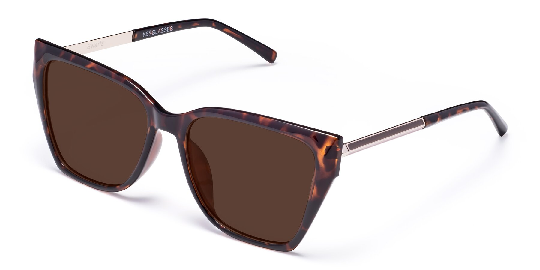 Angle of Swartz in Tortoise with Brown Tinted Lenses