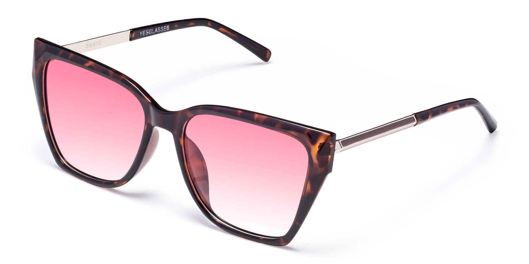 Angle of Swartz in Tortoise with Pink Gradient Lenses